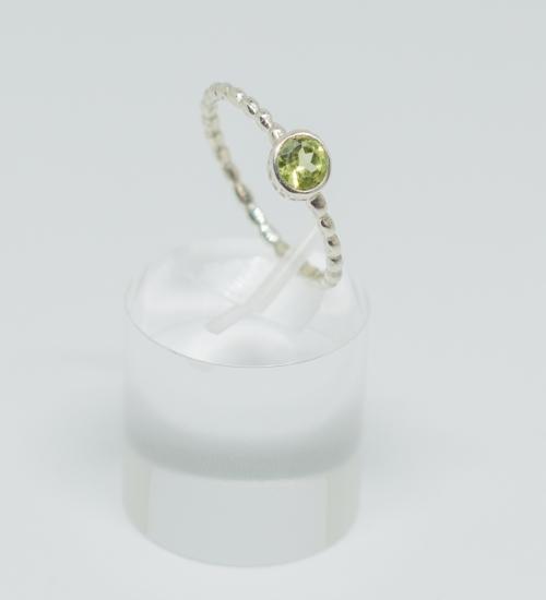 Peridot Twisted Ring